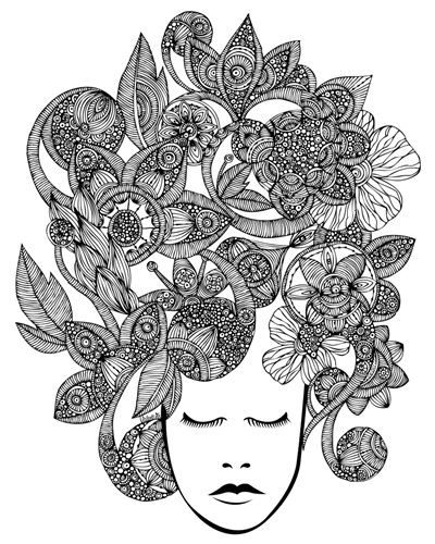 It's All In Your Head | Coloring Canvas - Canvas On Demand