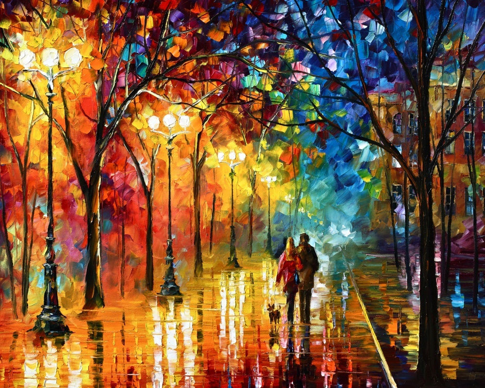 Night Fantasy By Leonid Afremov