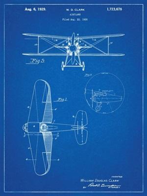 W.D. Clark Plane - Blue