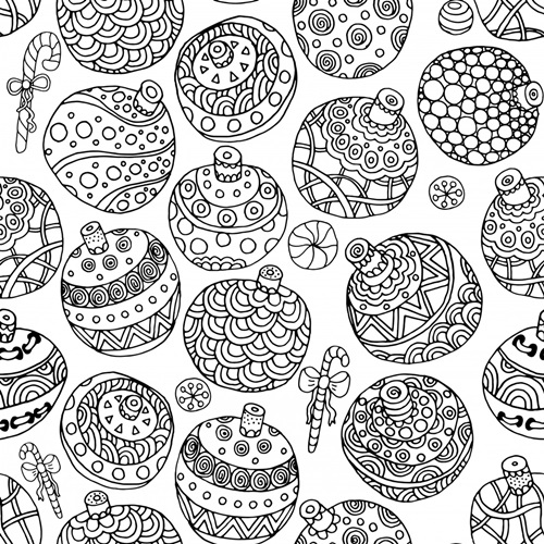 Holiday Baubles | Coloring Canvas - Canvas On Demand®