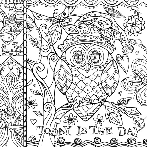 Christmas Owl | Coloring Canvas - Canvas On Demand®