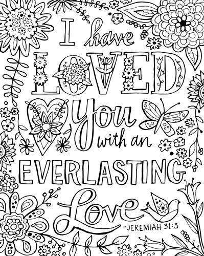 Love Quotes About Life: Coloring Canvas - Canvas On Demand®