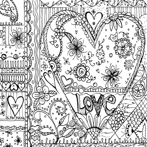 Love Lives Here | Coloring Canvas - Canvas On Demand®