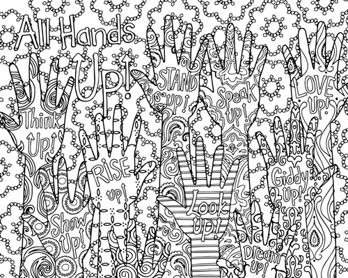 Hands Up | Coloring Canvas - Canvas On Demand®