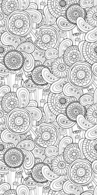 Flowers and Swirls II