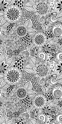 Flowers and Swirls V