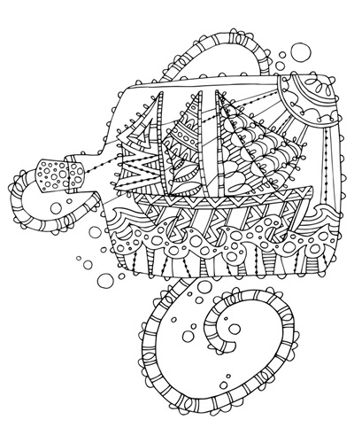Color Me - Ship in a Bottle | Coloring Canvas - Canvas On ...