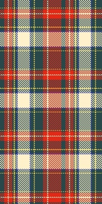 Tartan Plaid in Traditional Holiday Colors