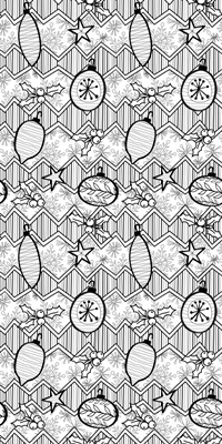 Christmas Baubles Coloring Wallpaper