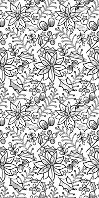 Poinsettias Coloring Wallpaper