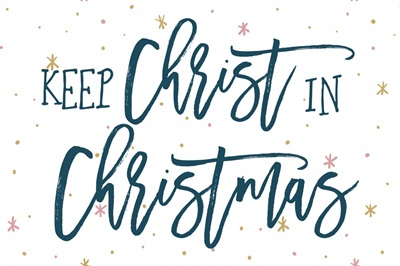 Keep Christ in Christmas - white