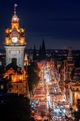 Edinburgh Clock Tower at Night, Scotland