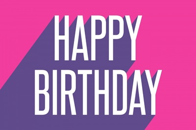 Happy Birthday - Pink Blocks