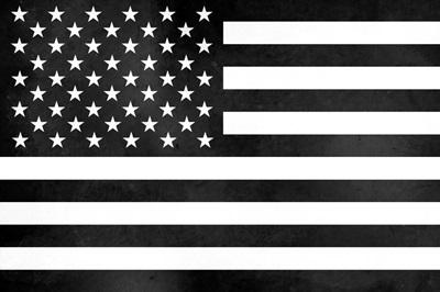Black/White American Flag