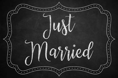 Chalkboard - Just Married