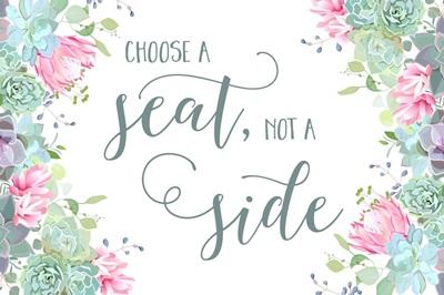 Choose A Seat - Succulents