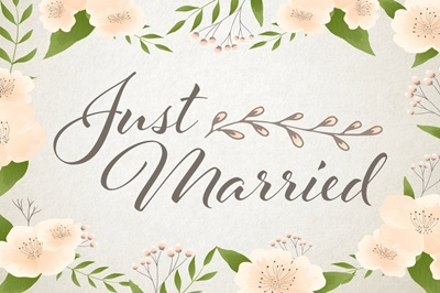 Just Married - Pastel
