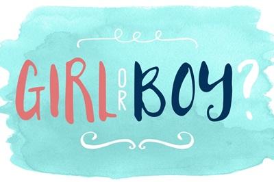 Gender Reveal - Watercolor Boy or Girl