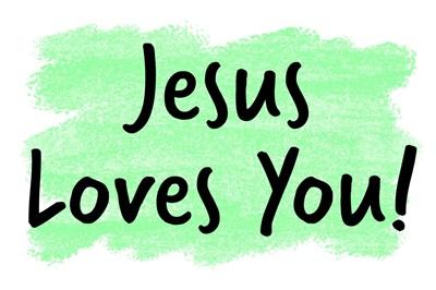 Christian - Jesus Loves You - Green