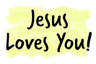 Christian - Jesus Loves You - Yellow