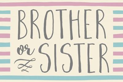 Gender Reveal - Brother or Sister
