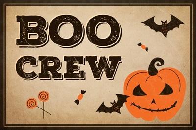 Halloween Decor Boo Crew