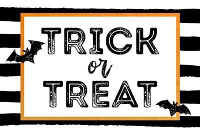 Halloween Decor Trick or Treat