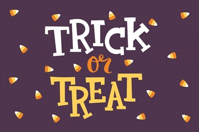 Halloween Decor Trick or Treat Candy