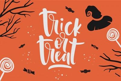 Halloween Decor Trick or Treat Festive