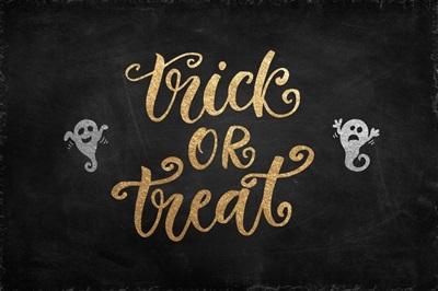 Halloween Decor Trick or Treat Gold