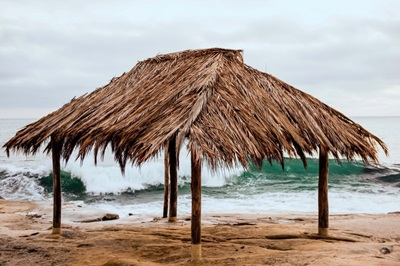 Surf Shack At Windansea Beach, La Jolla, California