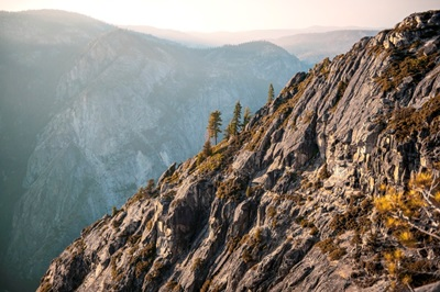 Mountain Landscape View From Taft Point, Yosemite National Park, California