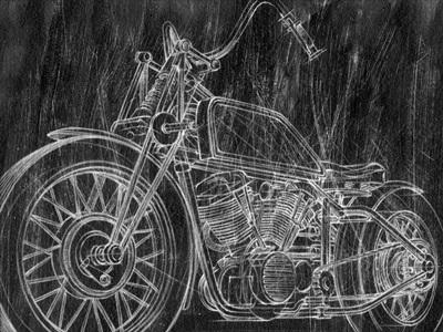 Motorcycle Mechanical Sketch II