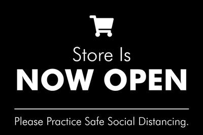 Store Open - Black
