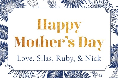 Happy Mother's Day - Blue Floral