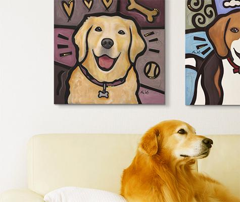 Pop Art Dogs - Canvas On Demand®