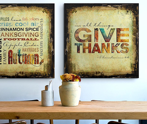 Thanksgiving Wall Art - Canvas On Demand®