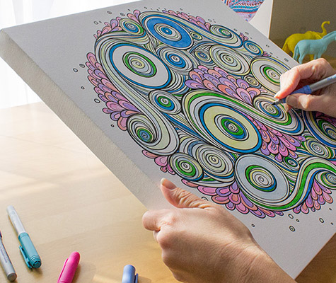 Coloring Canvas Relieve Stress While Creating Art