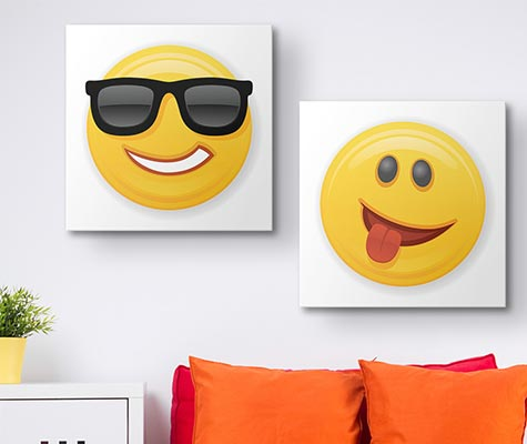 Emoji Wall Art emoji art prints - canvas on demand