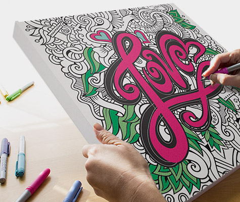 Coloring Canvas Canvas On Demand