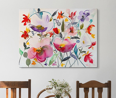 Watercolor Wall Art watercolor art prints - canvas on demand