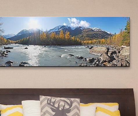 Panoramic Wall Art alaska panoramic wall art - canvas on demand