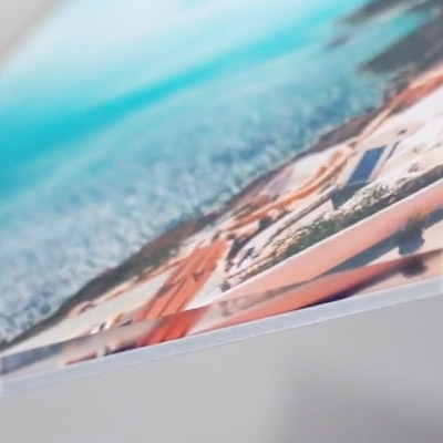 close up view of acrylic photo print showing rich color