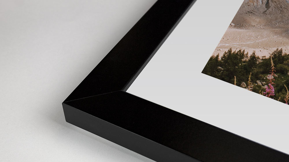 Detail photo of a black framed print