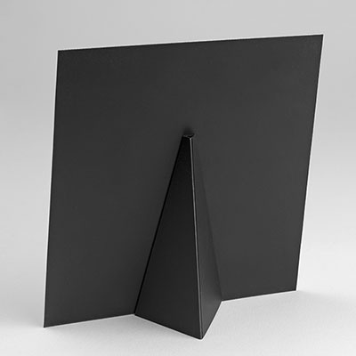 Back of Flat Tabletop Canvas Print showing easel