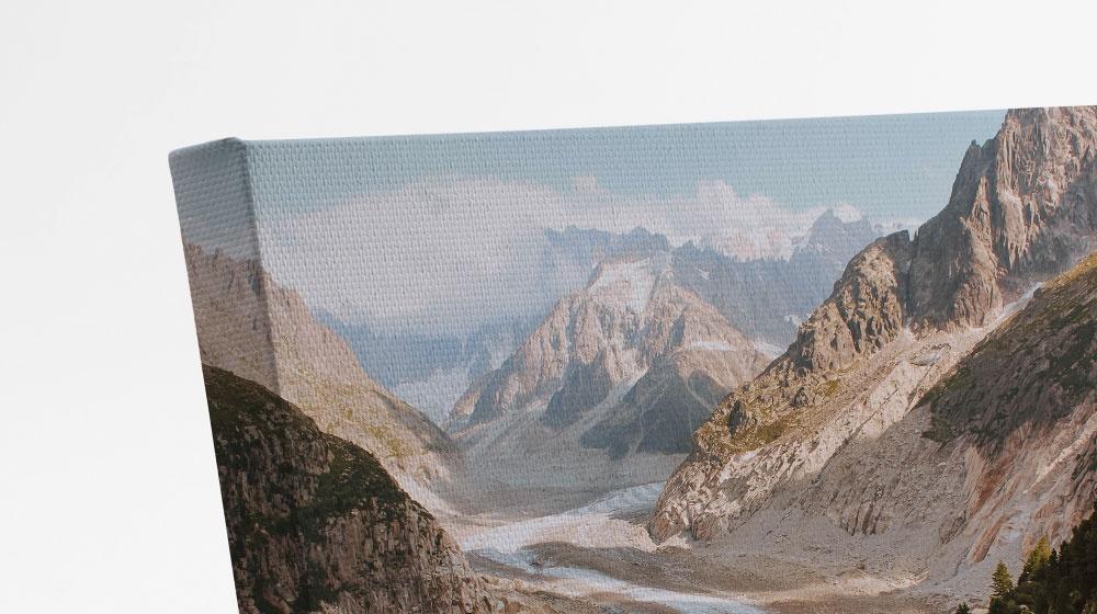 print detail of a desktop canvas print