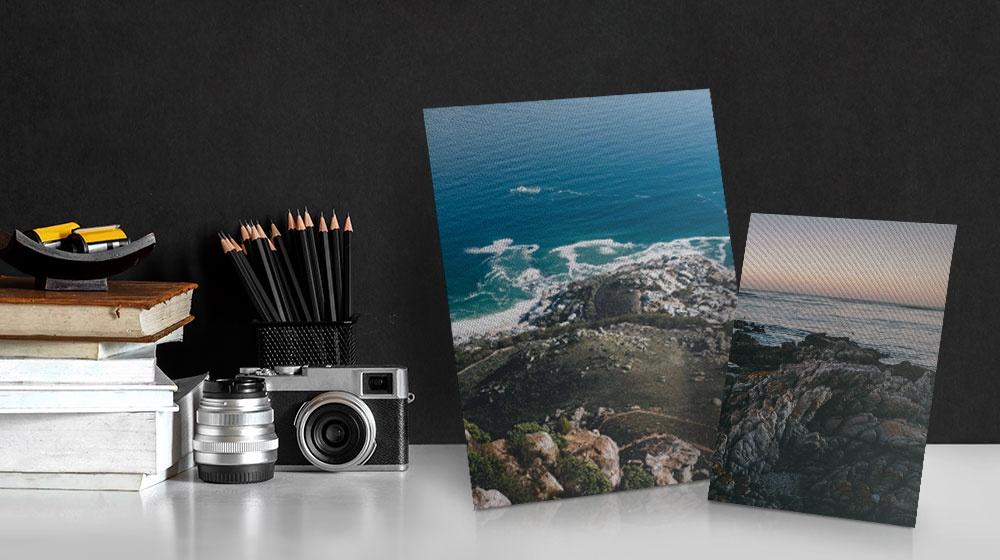 landscape photos printed on flat tabletop canvas prints