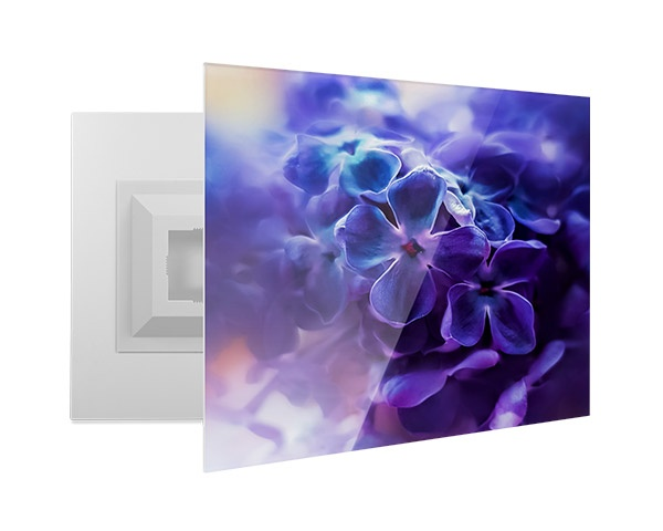 A custom printed photo on an acrylic print