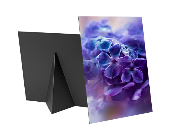 Custom printed photo on a flat tabletop canvas print